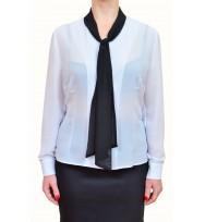 Camasa-alb cu cravata neagra 348